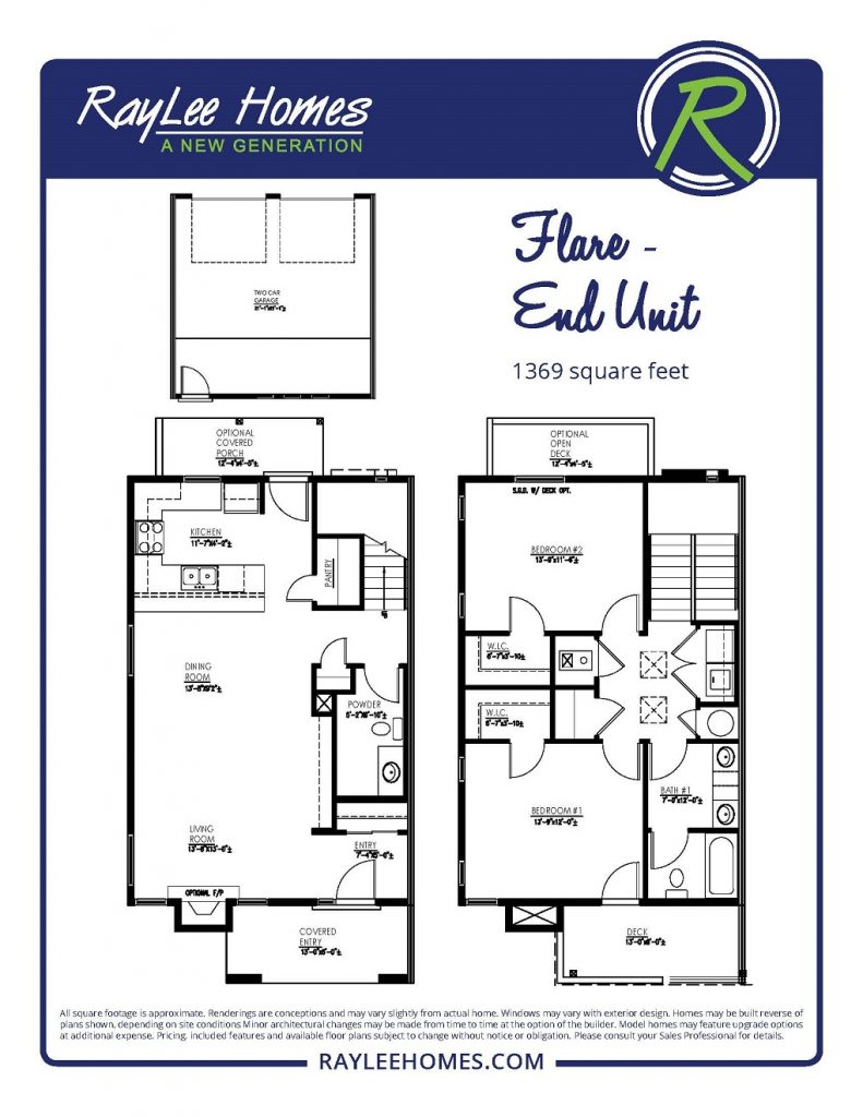 Flare End Unit RayLee Floorplan