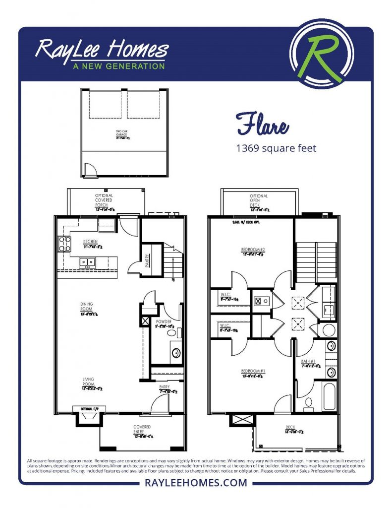 The Flare Floorplan - RayLee Homes - Volterra Village
