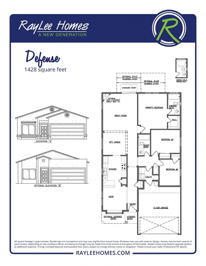 The Defense RayLee Floorplan