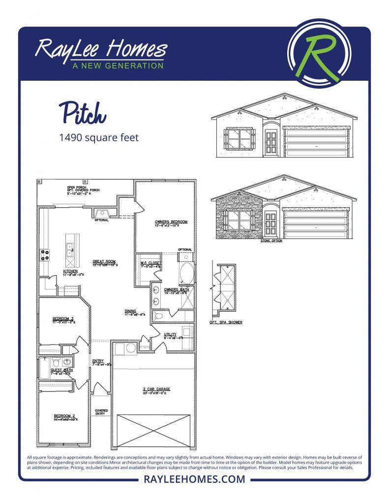 The Pitch Floorplan - RayLee Homes - Loma Colorado