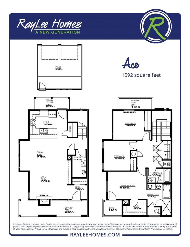 The Ace Floorplan - RayLee Homes - Volterra Village