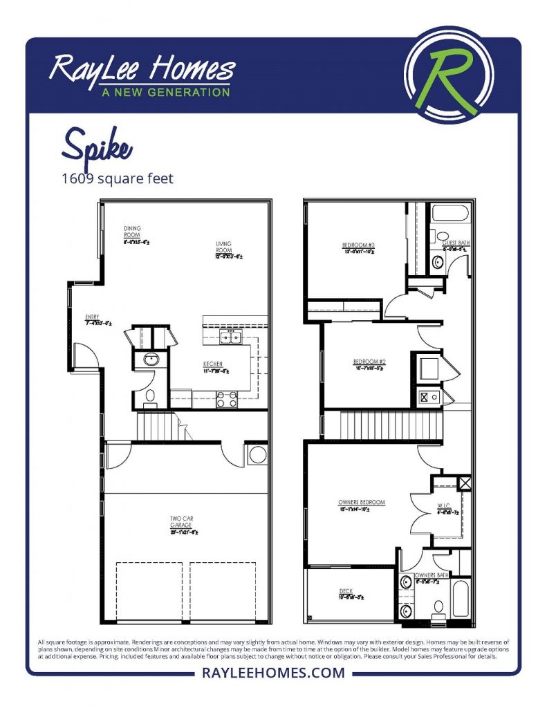 The Spike Floorplan - RayLee Homes - Volterra Village