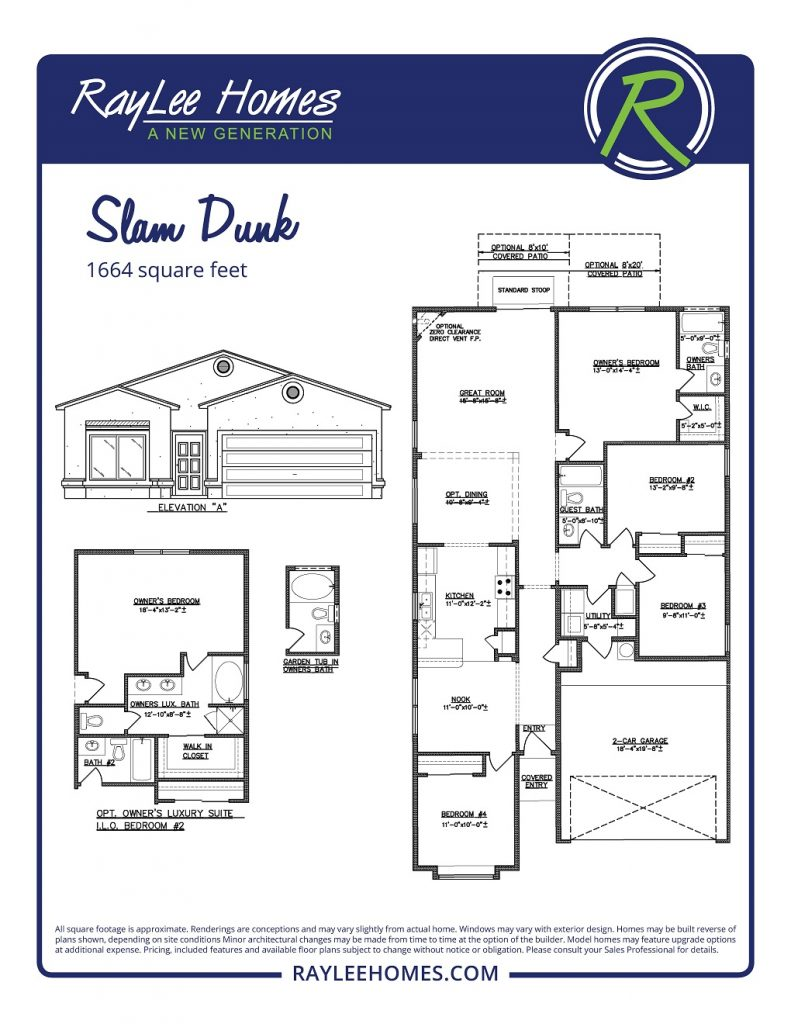 The Slam Dunk RayLee Floorplan