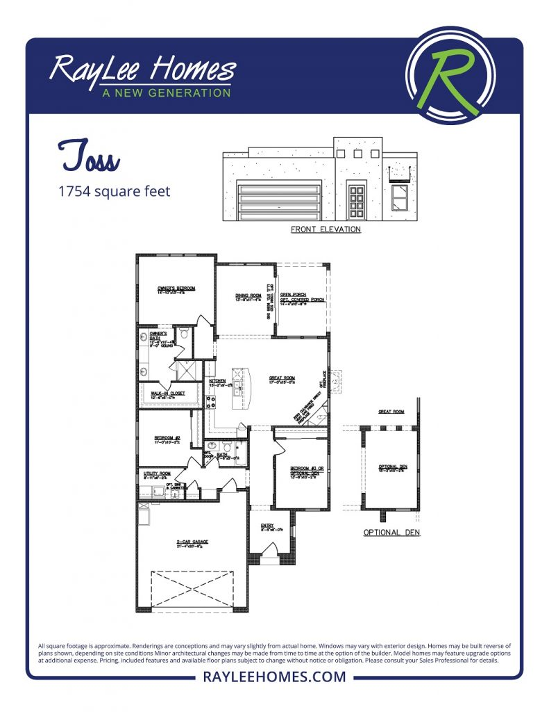 The Toss RayLee Floorplan