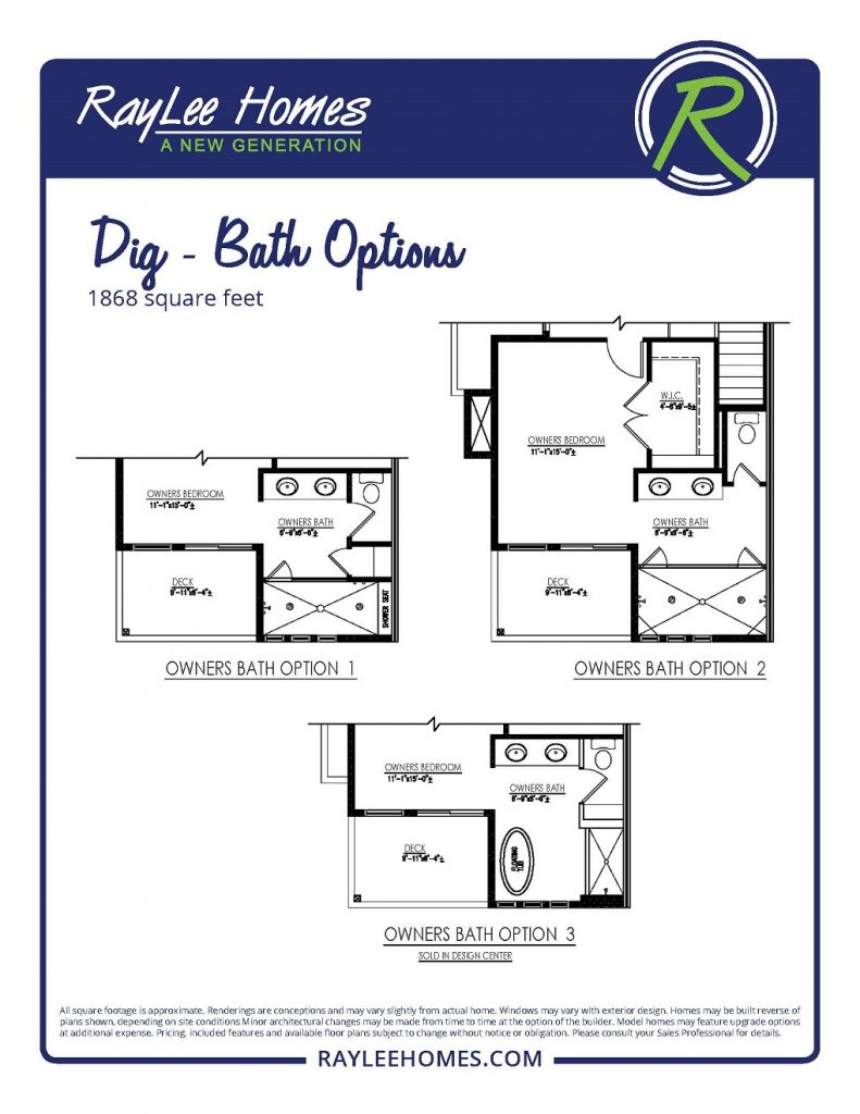 Dig Optional Bath RayLee Floorplan