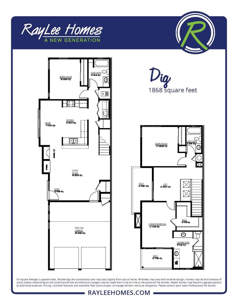 The Dig Floorplan - RayLee Homes - Volterra Village