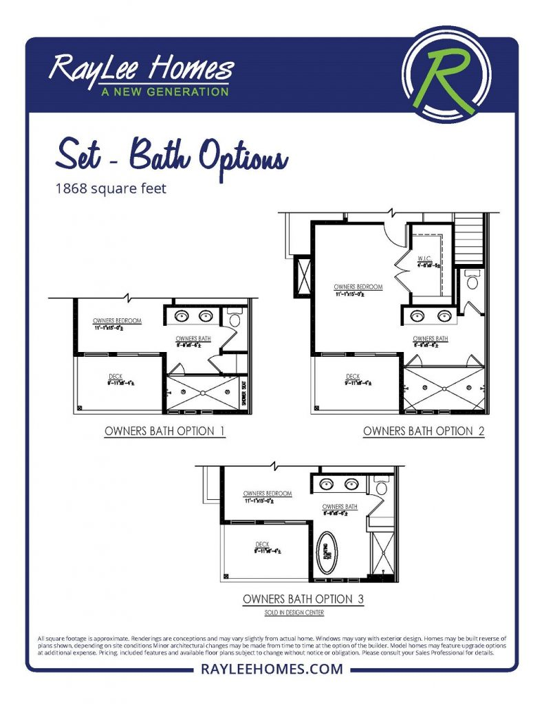 Set Optional Baths RayLee Floorplan