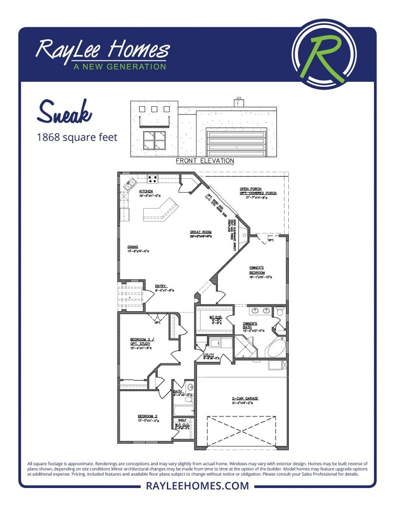 The Sneak RayLee Floorplan