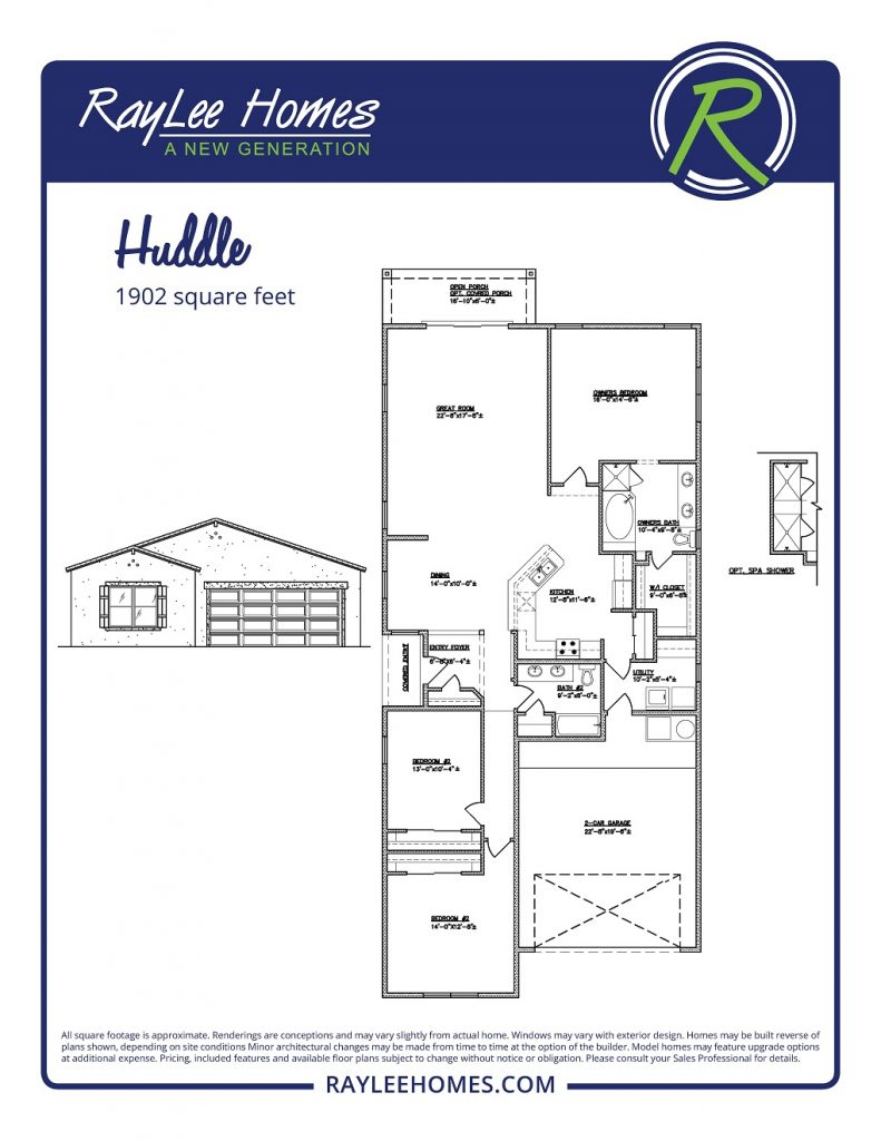 The Huddle Floorplan - RayLee Homes - Loma Colorado