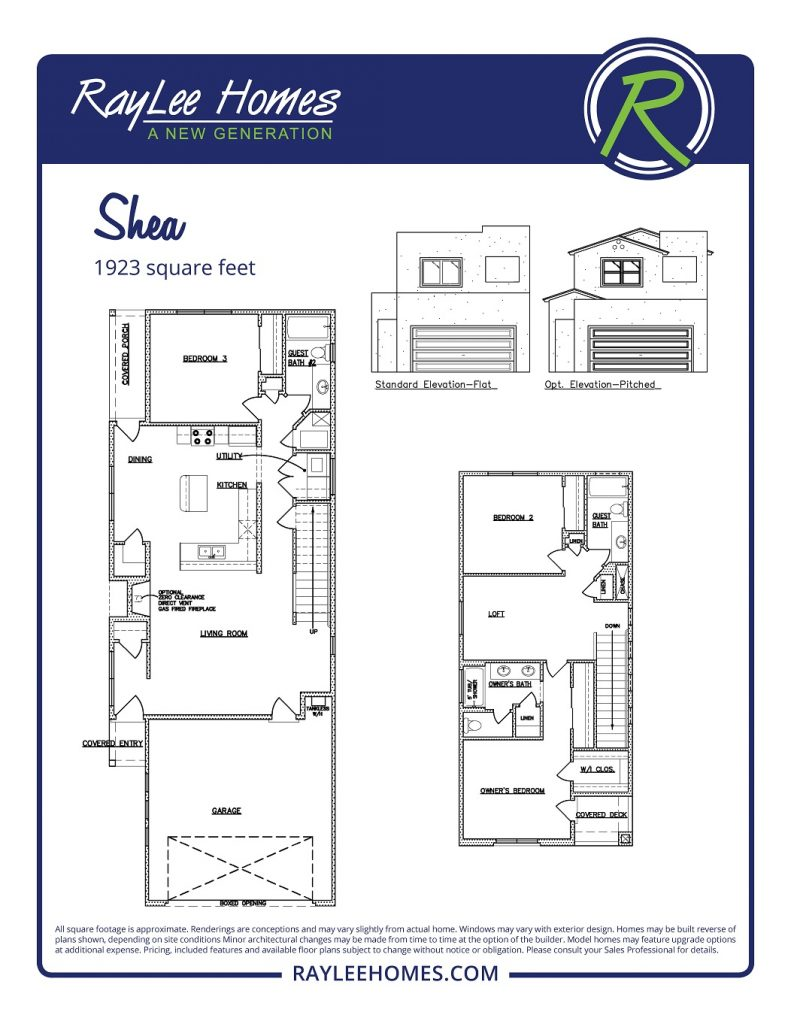 The Shea RayLee Floorplan
