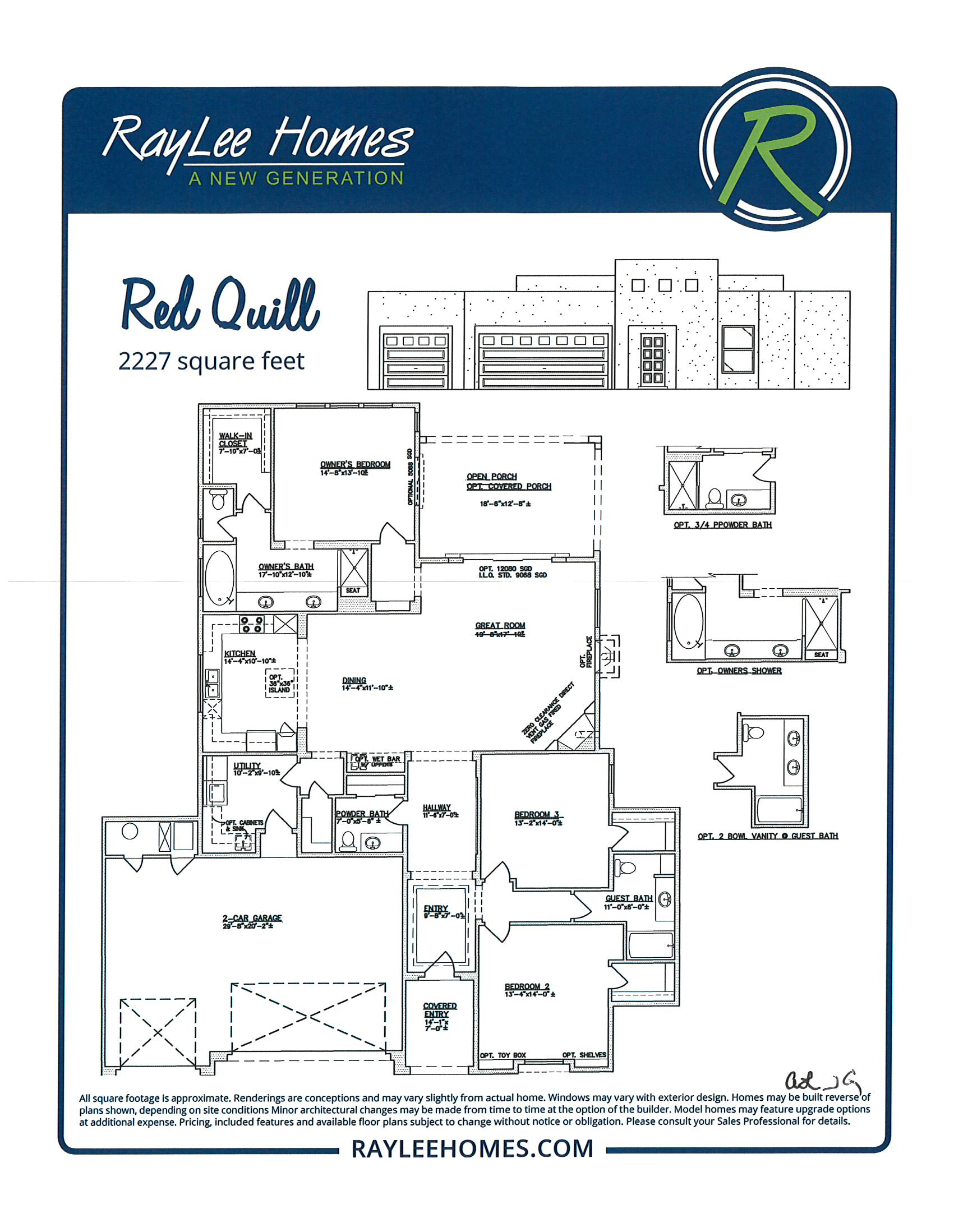 Red Quill RayLee Floorplan