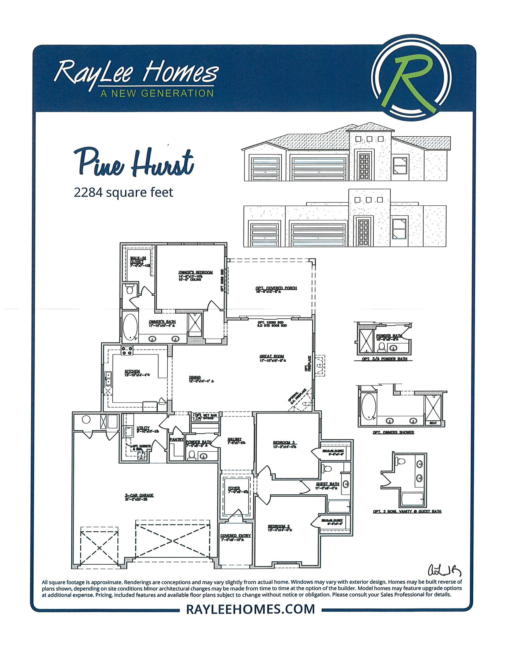 Pinehurst RayLee Floorplan