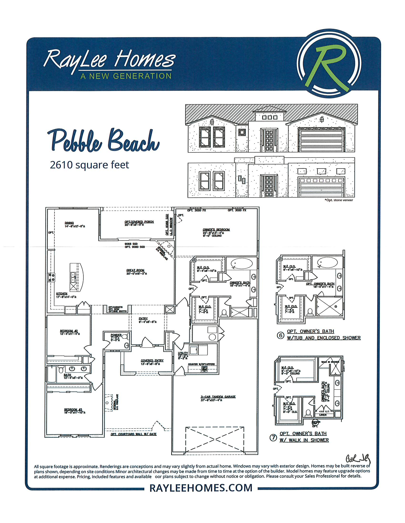 Pebble Beach RayLee Floorplan